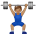 🏋🏽 person lifting weights: medium skin tone Emoji on Samsung Platform