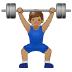 🏋🏽♂️ man lifting weights: medium skin tone Emoji on Samsung Platform