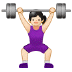 🏋🏻‍♀️ woman lifting weights: light skin tone Emoji on Samsung Platform