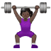 🏋🏿‍♀️ Dark Skin Tone Woman Lifting Weights Emoji on Samsung Platform