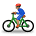 🚴🏽‍♂️ man biking: medium skin tone Emoji on Samsung Platform