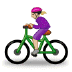 🚴🏼♀️ woman biking: medium-light skin tone Emoji on Samsung Platform