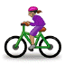 🚴🏽‍♀️ woman biking: medium skin tone Emoji on Samsung Platform