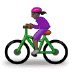 🚴🏿‍♀️ woman biking: dark skin tone Emoji on Samsung Platform