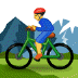🚵 person mountain biking Emoji on Samsung Platform