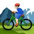 🚵🏻 person mountain biking: light skin tone Emoji on Samsung Platform