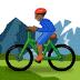 🚵🏾 person mountain biking: medium-dark skin tone Emoji on Samsung Platform