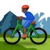 🚵🏿 person mountain biking: dark skin tone Emoji on Samsung Platform