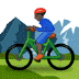🚵🏿‍♂️ man mountain biking: dark skin tone Emoji on Samsung Platform