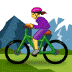 🚵‍♀️ woman mountain biking Emoji on Samsung Platform