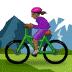 🚵🏾♀️ woman mountain biking: medium-dark skin tone Emoji on Samsung Platform