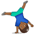 🤸🏾 person cartwheeling: medium-dark skin tone Emoji on Samsung Platform