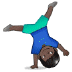 🤸🏿 Dark Skin Tone Person Cartwheeling Emoji on Samsung Platform