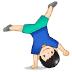 🤸🏻♂️ man cartwheeling: light skin tone Emoji on Samsung Platform