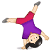 🤸🏻‍♀️ woman cartwheeling: light skin tone Emoji on Samsung Platform