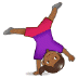 🤸🏾‍♀️ woman cartwheeling: medium-dark skin tone Emoji on Samsung Platform