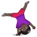 🤸🏿‍♀️ woman cartwheeling: dark skin tone Emoji on Samsung Platform
