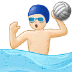 🤽🏻 person playing water polo: light skin tone Emoji on Samsung Platform