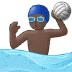 🤽🏿 person playing water polo: dark skin tone Emoji on Samsung Platform