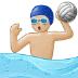 🤽🏼♂️ man playing water polo: medium-light skin tone Emoji on Samsung Platform