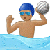 🤽🏽‍♂️ man playing water polo: medium skin tone Emoji on Samsung Platform