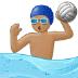🤽🏽♂️ man playing water polo: medium skin tone Emoji on Samsung Platform