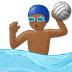 🤽🏾♂️ man playing water polo: medium-dark skin tone Emoji on Samsung Platform
