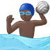 🤽🏿‍♂️ man playing water polo: dark skin tone Emoji on Samsung Platform