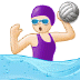🤽🏻‍♀️ woman playing water polo: light skin tone Emoji on Samsung Platform
