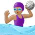 🤽🏽♀️ Medium Skin Tone Woman Playing Water Polo Emoji on Samsung Platform