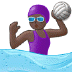 🤽🏿‍♀️ woman playing water polo: dark skin tone Emoji on Samsung Platform