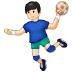🤾🏻 person playing handball: light skin tone Emoji on Samsung Platform