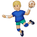 🤾🏼 person playing handball: medium-light skin tone Emoji on Samsung Platform