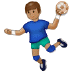 🤾🏽 person playing handball: medium skin tone Emoji on Samsung Platform