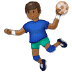 🤾🏾‍♂️ man playing handball: medium-dark skin tone Emoji on Samsung Platform