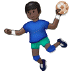 🤾🏿♂️ man playing handball: dark skin tone Emoji on Samsung Platform