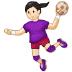 🤾🏻♀️ woman playing handball: light skin tone Emoji on Samsung Platform