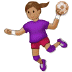 🤾🏽‍♀️ woman playing handball: medium skin tone Emoji on Samsung Platform