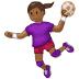 🤾🏾♀️ woman playing handball: medium-dark skin tone Emoji on Samsung Platform