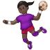 🤾🏿♀️ woman playing handball: dark skin tone Emoji on Samsung Platform
