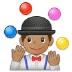 🤹🏽 person juggling: medium skin tone Emoji on Samsung Platform