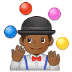 🤹🏾 person juggling: medium-dark skin tone Emoji on Samsung Platform