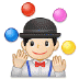🤹🏻‍♂️ man juggling: light skin tone Emoji on Samsung Platform