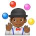 🤹🏾♂️ man juggling: medium-dark skin tone Emoji on Samsung Platform