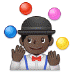 🤹🏿‍♂️ man juggling: dark skin tone Emoji on Samsung Platform