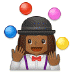 🤹🏾‍♀️ woman juggling: medium-dark skin tone Emoji on Samsung Platform