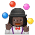 🤹🏿‍♀️ woman juggling: dark skin tone Emoji on Samsung Platform