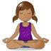 🧘🏽 person in lotus position: medium skin tone Emoji on Samsung Platform