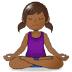 🧘🏾 person in lotus position: medium-dark skin tone Emoji on Samsung Platform
