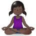 🧘🏿 person in lotus position: dark skin tone Emoji on Samsung Platform